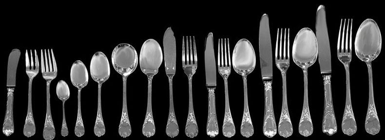 (Christofle) 10 デザートナイフ アリア クリストフル